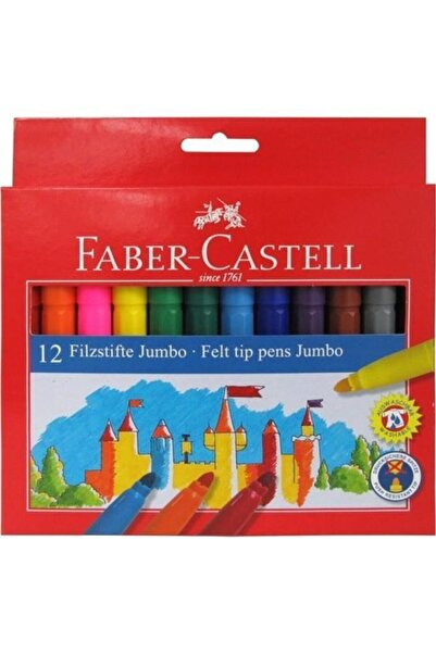 Faber Castell Faber 12 Renk Jumbo Keçeli Kalem 554312