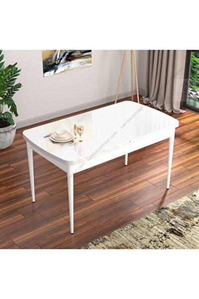 Canisa Concept Eva Açılabilir Mutfak Masası Mdf ve Ahşap Ayaklı Beyaz