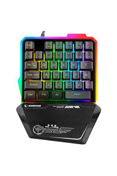 Rampage Kb-r24 Rgb Metal Gövdeli Ufak Gaming Klavye + Gaming Mouse Pad