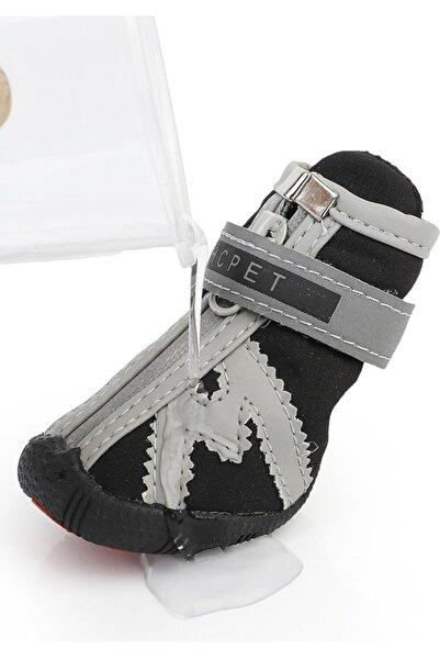 ŞenPati Pet Köpek Ayakkabısı Cırtcırtlı Su Geçirmez Siyah