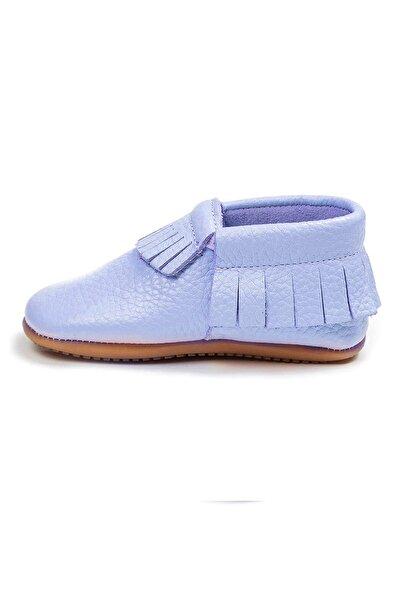 Ella Bonna Kız Bebek Mavi Hakiki Deri Anatomik Kauçuk Taban Makosen Ayakkabı