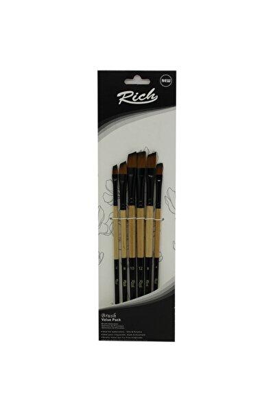 Rich 11219 Yan Kesik Fırça 6lı Set