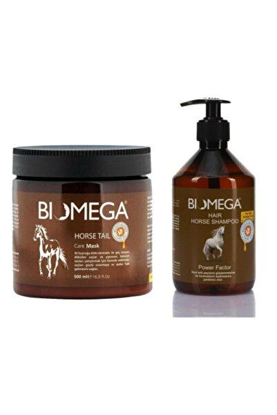 BIOMEGA At Kuyruğu Şampuanı 500 ml  + At Kuyruğu Maske 500 ml Set
