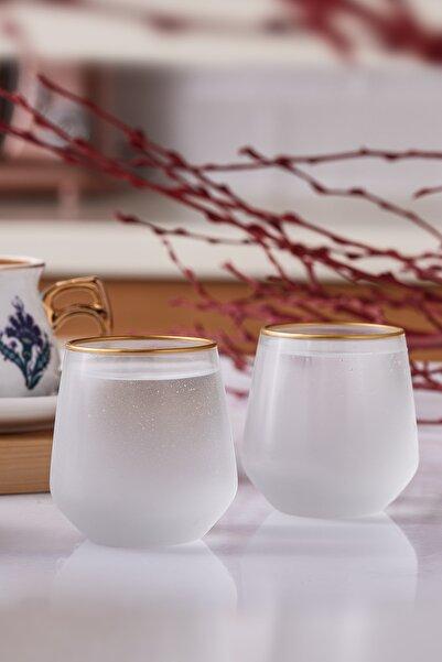 Emsan Firuze Allegra Beyaz Kahve Yanı Su Bardağı