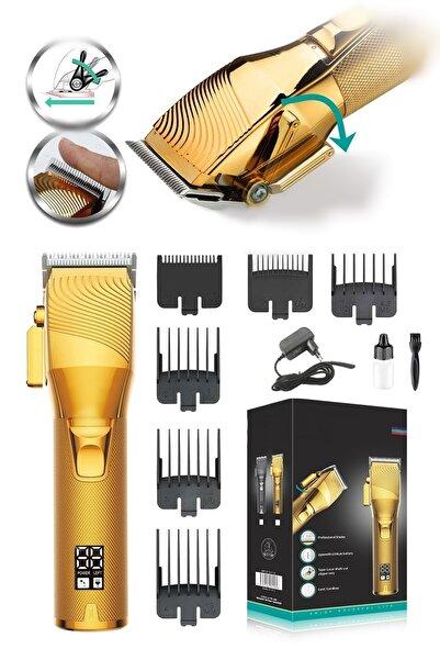yopigo V-280 Master Super Gold Serisi Şarjlı Saç Sakal Traş Erkek Tıraş Makinesi Bakım Seti