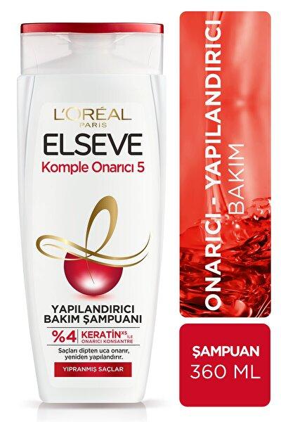 ELSEVE Komple Onarıcı 5 Yıpranmış Saçlar Için Keratinxs Içeren Yapılandırıcı Bakım Şampuanı 360 ml
