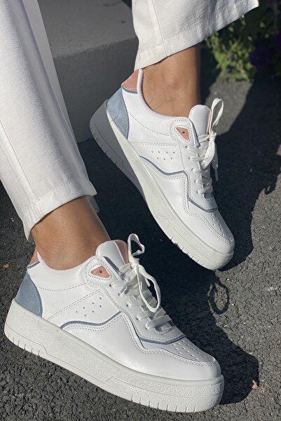 İnan Ayakkabı Kadın Beyaz Spor Ayakkabı Sneaker