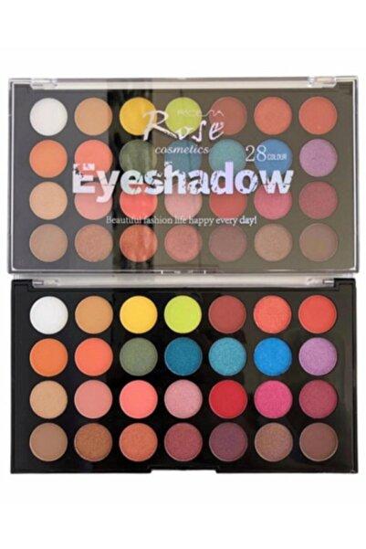AİLY COSMETİCS Rose 28'li Renkli Göz Far Paleti & 28 Colour Eyeshadow