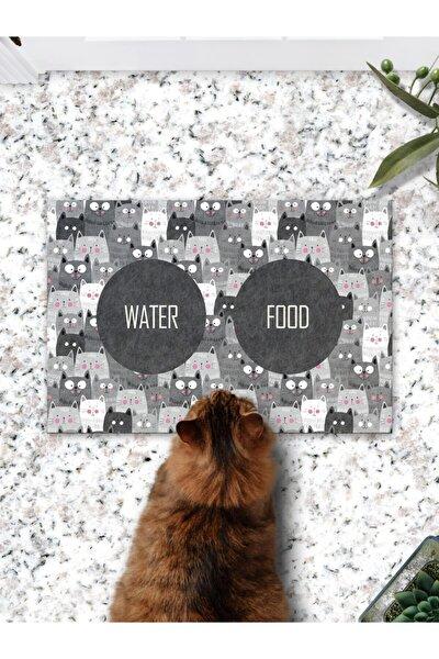 Patipeti Gri Kediler Kedi Köpek Mama Eğitim Paspası Ve Beslenme Altlığı