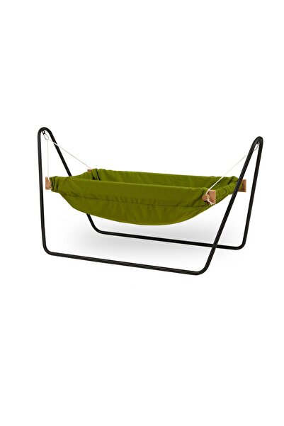 Svava Ahşap Bebek Hamak Beşik Portatif Hamak Beşik (Yeşil)