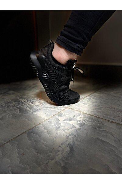 Odal Shoes Erkek Siyah Unisex Sneaker Spor Ayakkabı Takax0132