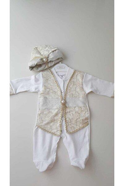 Ponpon Baby Yenidoğan Erkek Bebek Mevlütlük Şehzade Sünnetlik Sünnet Kıyafeti