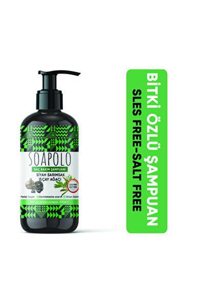 SOAPOLO Bitki Özlü Saç Şampuanı Siyah Sarımsak-çay Ağacı 400ml