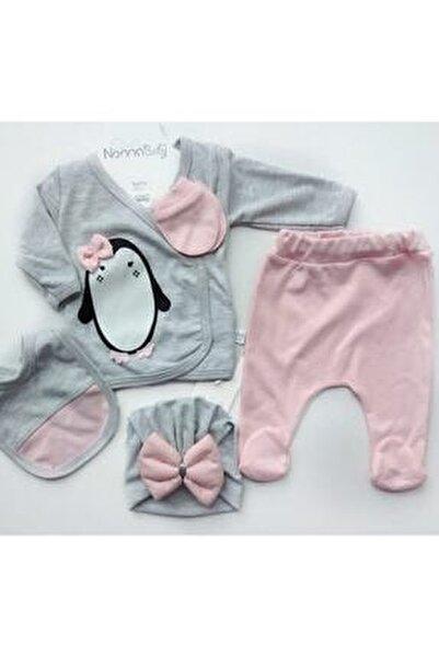 Bebek Gri Yeni Doğan Pamuklu Zıbın Set 5 Li P1005651