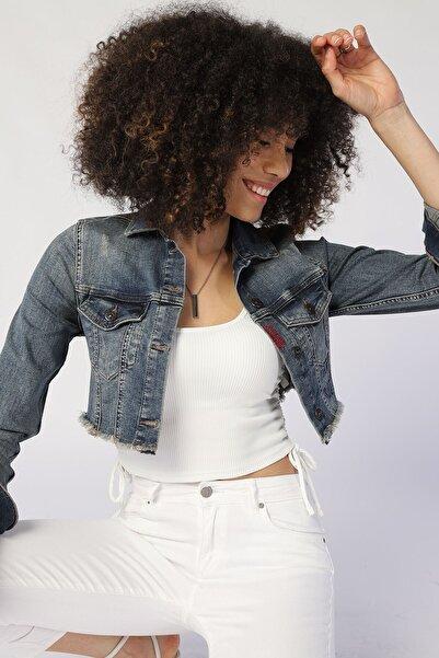 Twister Jeans Kadın Slim Fit Ceket Rıya J14-01 01