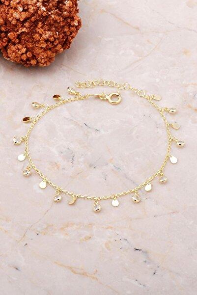 Sümer Telkari Pullu Sallantılı Taşlı Altın Yaldızlı Gümüş Bileklik 3731