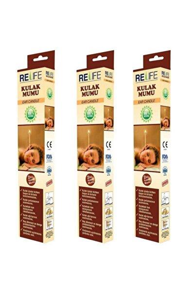 Relife Kulak Temizleme Mumu Çubuğu 3 Kutu (6 Çubuk)
