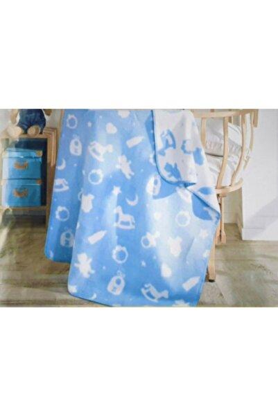 Sesli Home Pamuklu Erkek Bebek Battaniyesi Ayıcıklı Mavi