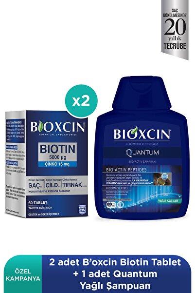 Bioxcin Bıoxcın Bıotın 5000 Mcg 60 Tablet + Quantum Şampuan 100 Ml