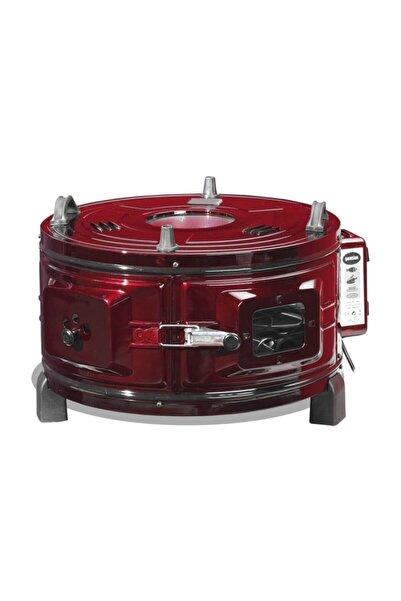 Şamdan J426 1000 T Dönerli Termostatlı Büyük Boy Yuvarlak Davul Fırın,,,kırmızı Renk 1000t