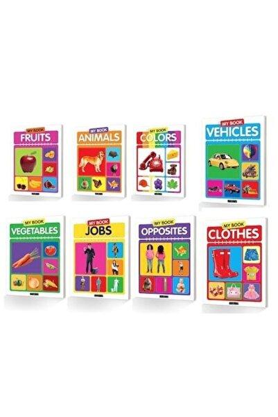The Kidland Okul Öncesi İngilizce My Book Seti 8 Kitap İngilizce ve Kelime Çarkı