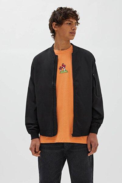 Pull & Bear Fermuarlı Bomber Ceket