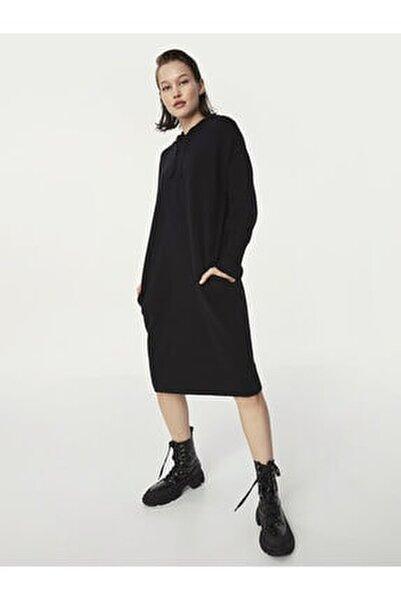 Kapüşonlu Sweat Elbise