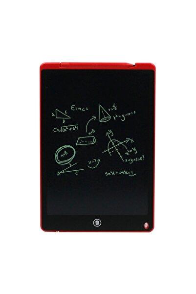 NOUT Lcd Yazı Tahtası Tablet  12 inç Mıknatıslı Kırmızı Boyama, Çizim, Alıştırma, Hesap, Grafiti