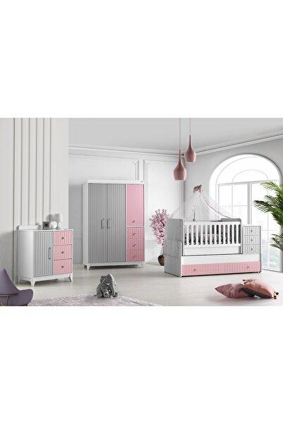 Aymini Sofia Yavrulu Büyüyen Beşikli Bebek Odası Takımı