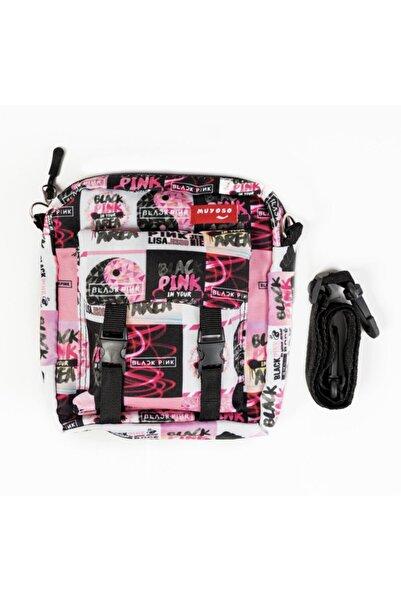 muyoso Black Pink Bag Cıtcıtlı Dik Çapraz Çanta