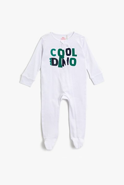 Koton Erkek Çocuk Beyaz Bebek Body & Zıbın 1YNB12317TK