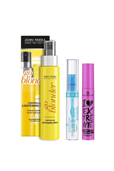 John Frieda Sarı Saçlara Renk Açıcı Sprey&essence I Love Extreme Crazy Hacim Maskara&kaş Jeli