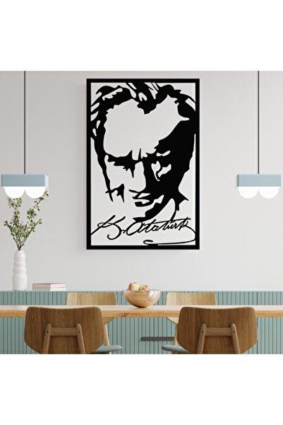 MİNAY HOME Atatürk Portre Imza Duvar Süsü - Duvar Dekoru