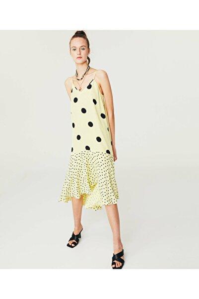 Twist Asimetrik Kesim Midi Elbise