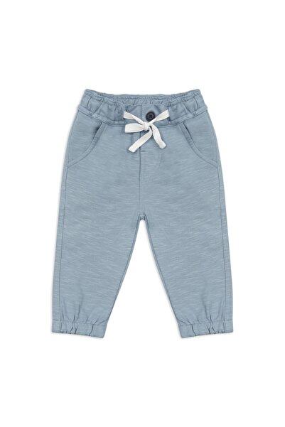 Panço Erkek Bebek Mavi Örme Pantolon 2111bb04011