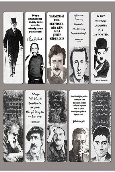 Mia Pera 10'lu Kitap Ayraç Seti Atatürk Can Yücel Orhan Veli Kanık Charlie Chaplin Özdemir Asaf