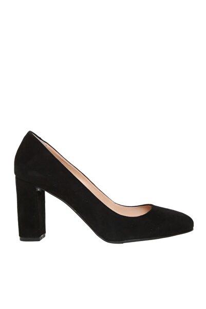 Fabrika Kadın Siyah Süet Topuklu Ayakkabı