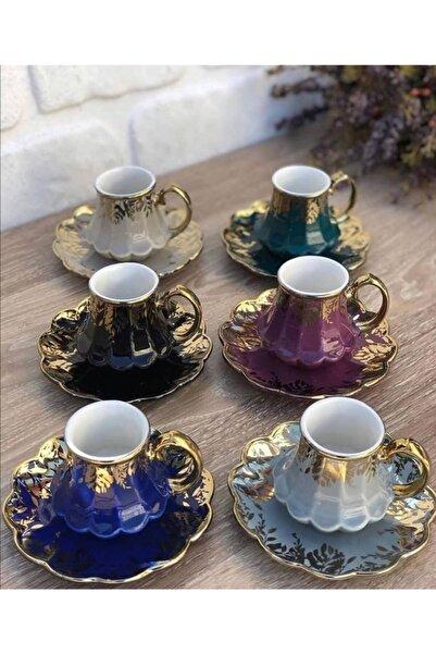 ACAR 6 Renk 6'lı Türk Kahvesi Fincanı