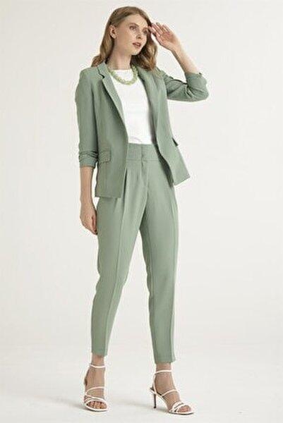 Kadın Yeşil Pensli Pantolon