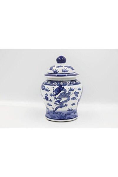 LAMEDORE Bleu Blanc D Kavanoz/dekor 17cm