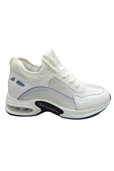 Guja Kadın Beyaz Yüksek Taban Spor Ayakkabı 20k374-2