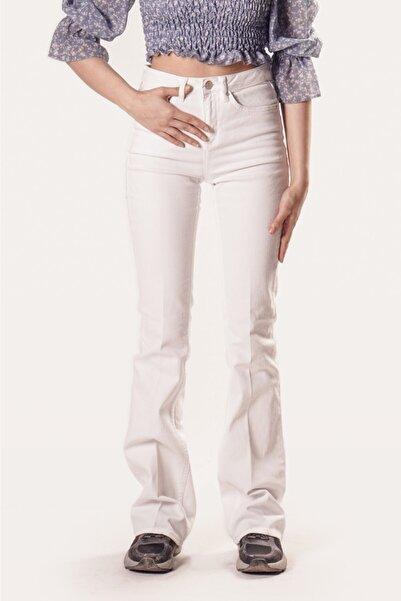Show Up Butik Beyaz Pantolon