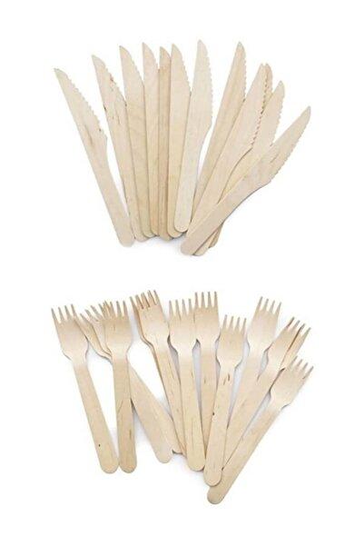 Partifabrik Kullan At Tahta Parti Çatal Bıçak Set 16 Lı
