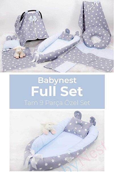 Babynest Full Set Mavi Ve Gri Yıldız