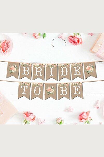 Huzur Party Store Bride To Be Yazılı Temalı Bekarlığa Veda Partisi Konsepti 2 Metre Karton Ipli Yazı Flama Banner
