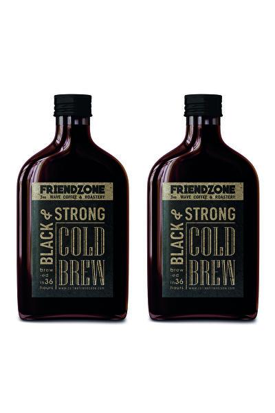 Friendzone 3rd Wave Coffee & Roastery Cold Brew ( Soğuk Demleme Kahve ) Cam Şişe 200 Ml 2'li Set