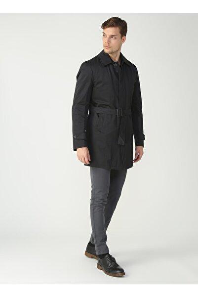 Fabrika Erkek Siyah Comfort Palto