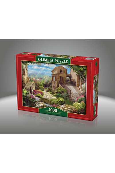 Olimpia Old Town With Flovers 1000 Parça Puzzle