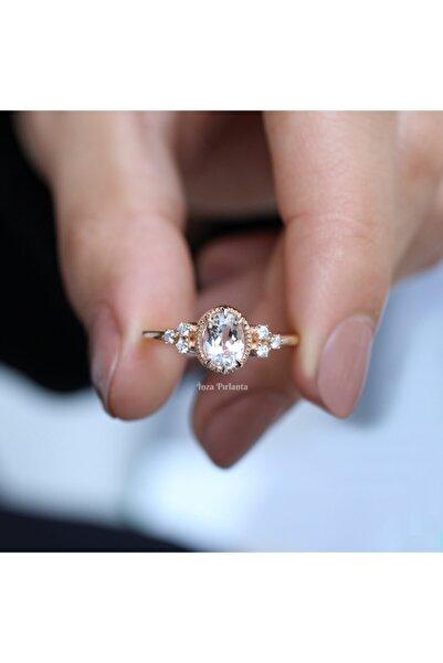 INZA mücevherat Vintage Beyaz Safir Pırlanta Yüzük