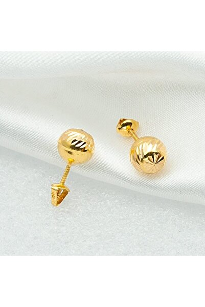 ZENGER GOLD 14 Ayar Top Küpe